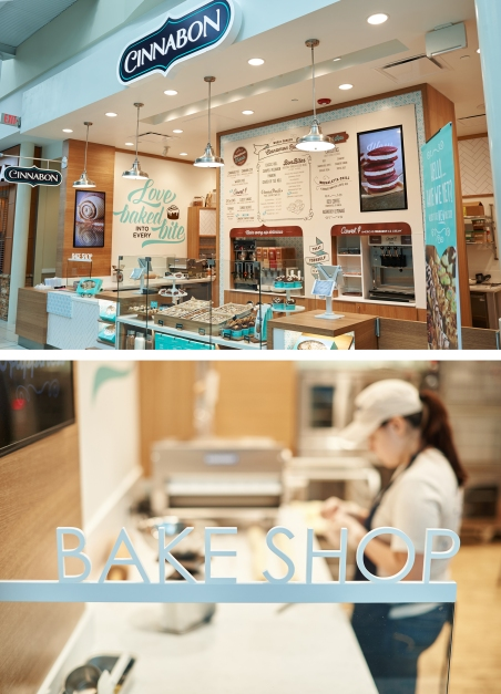 Some photos of the new Cinnabon store design in the North Point Mall Alpharetta, Georgia