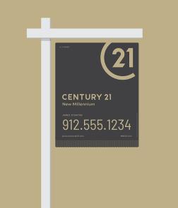 New CENTURY 21 Yard Sign